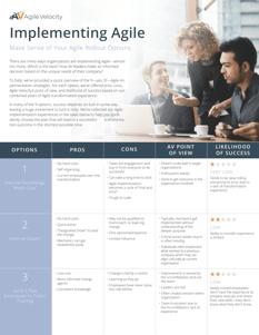 Agile Rollout Table - 2020